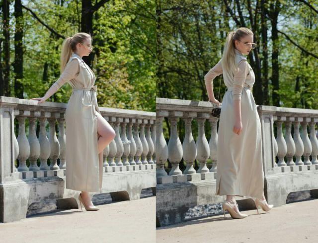 Elegance, long coat for little cold summer days.
