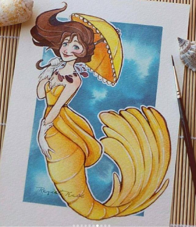 I wanna be a mermaid n swim in the deep sea;)