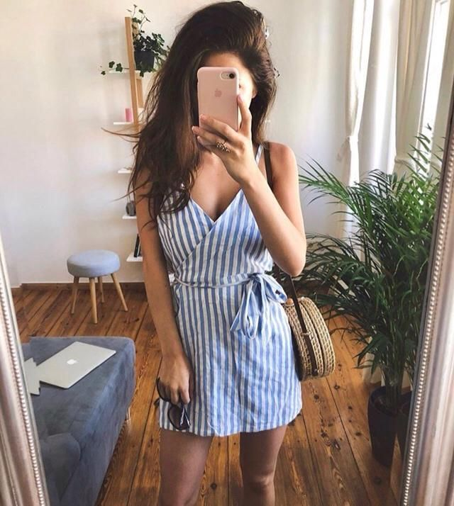 This summer wearing a light colour dress and simple outfit will not break the sweat while walking on the street
