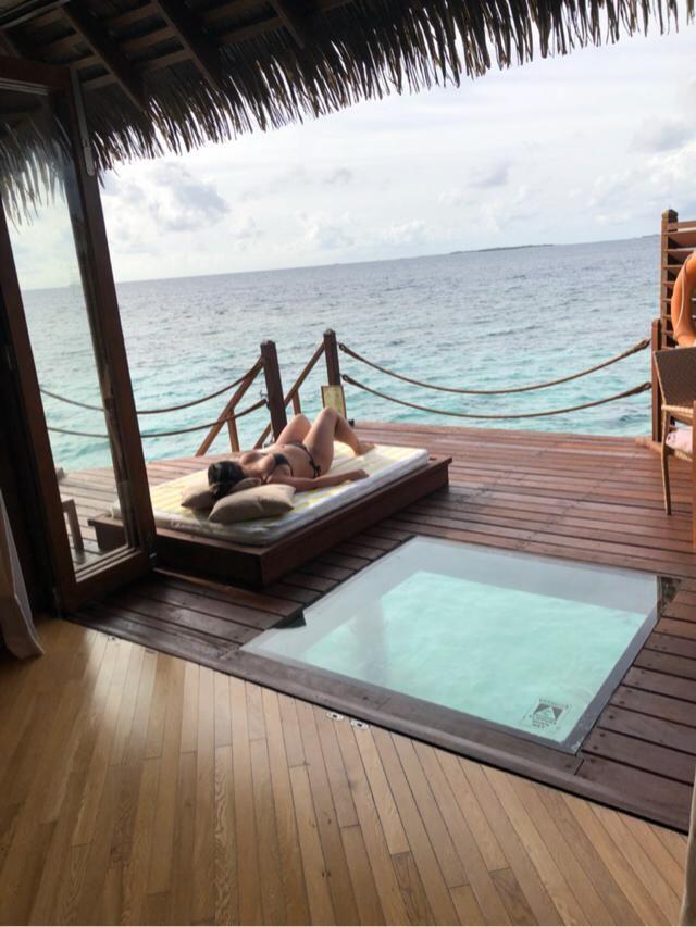 Chilling in Maldive