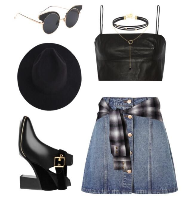 Grunge look ~ tie a flannel at your waist to finish your outfit!