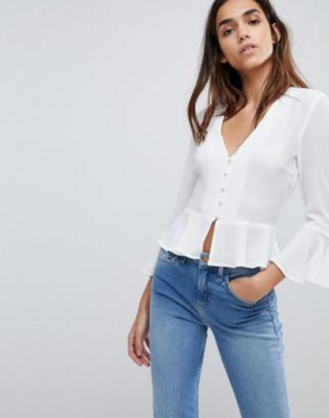 6efab379342aa6 2019 Best Frill Tops Images And Outfits
