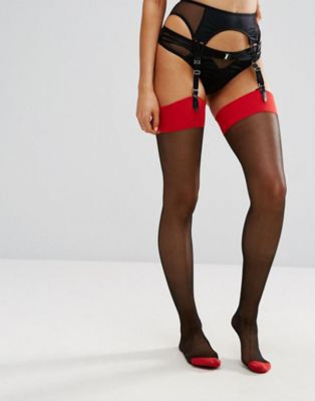 a78967119cc Ann Summers Plain Top Seamed Glossy Stocking.  polyester tights ...