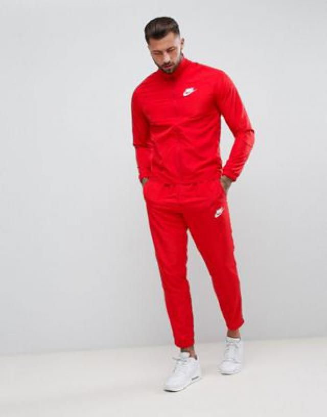 on sale 4b392 ca197 Nike Woven Tracksuit Set In Red 861778-657