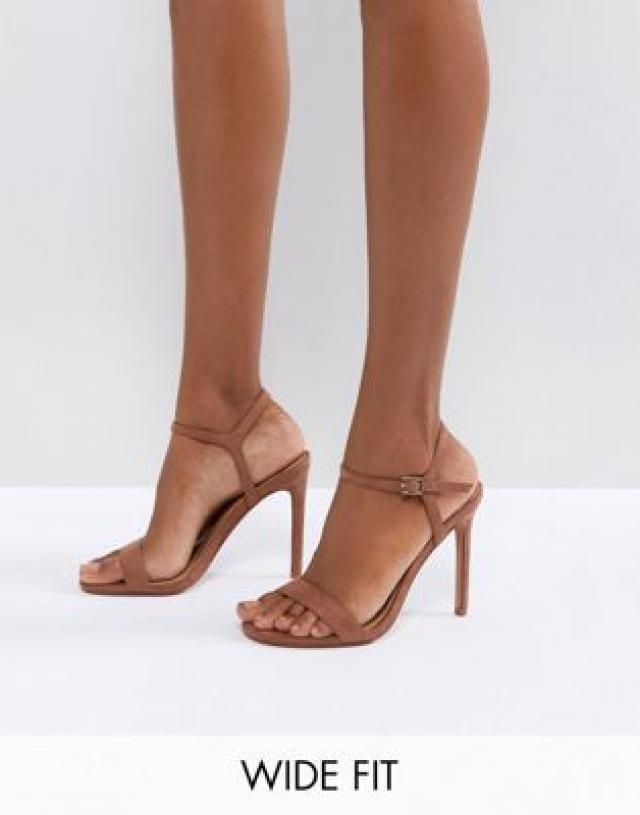 8b5f152315 Wide Fit Hands Down barely there heeled sandals