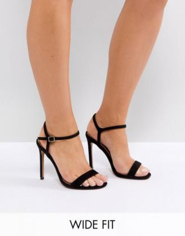 49cd76f1a20 Wide Fit Hands Down barely there heeled sandals