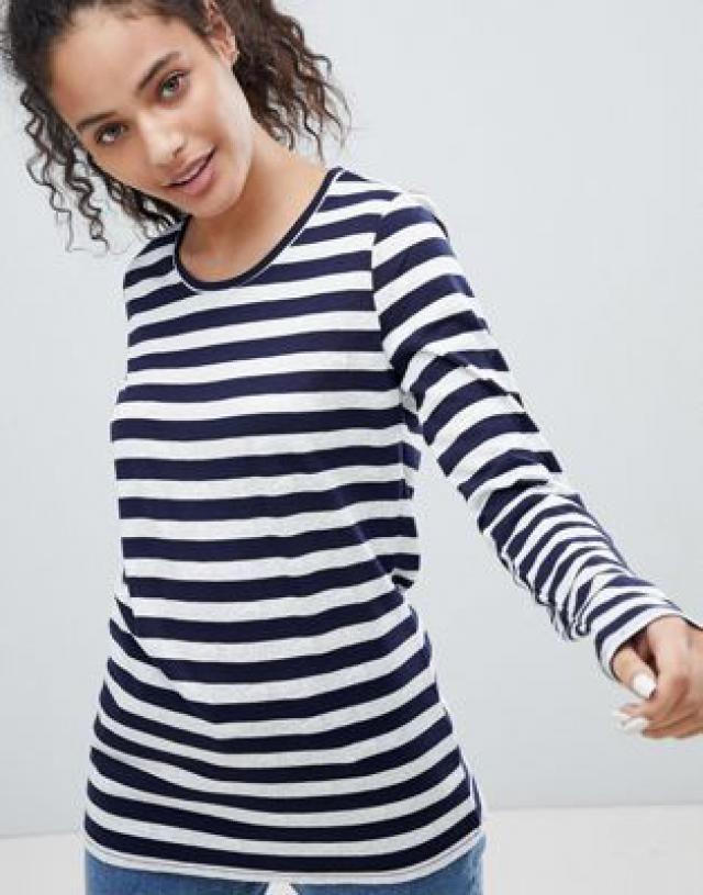 6b0118ca3dc38 Bellfield Sebra Stripe Long Sleeved T-Shirt