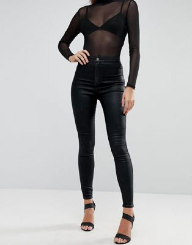 4da10b34883f99 2019 Best Coated Denim Jeggings Images And Outfits | Z-Me ZAFUL
