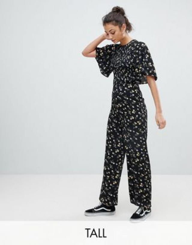 e2a018b289f Fashion Union Tall Jumpsuit With Kimono Sleeves In Daisy Floral