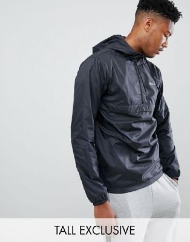 65d8e95d5095 Nicce windbreaker logo jacket in black exclusive to