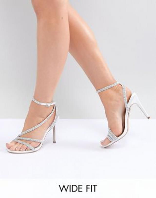 1a3334d77cd8 Hypnotic Wide Fit Bridal Embellished Heeled Sandals