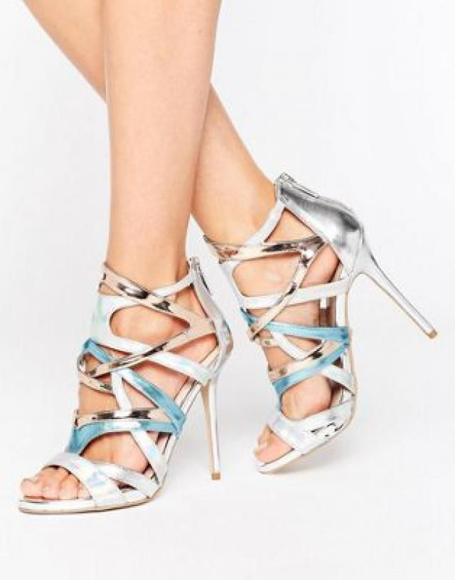 4cbf9f471ea Carvela Gum Metallic Multi Strap Heeled Sandals