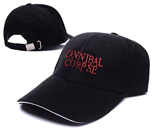 bb0befe42aa Cannibal Corpse Band Logo Adjustable Baseball Caps Unisex Snapback  Embroidery Hats