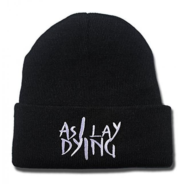 0fca5c0e9eaa15 As I Lay Dying Logo Beanie Fashion Unisex Embroidery Beanies Skullies  Knitted Hats Skull Caps