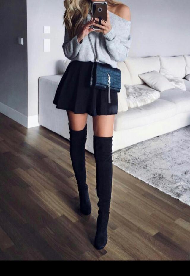 Thigh high boots make everything better ✨