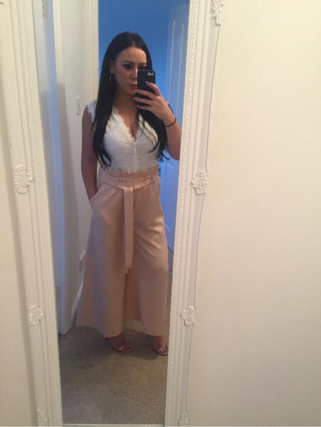 Gorgeous paper bag trousers