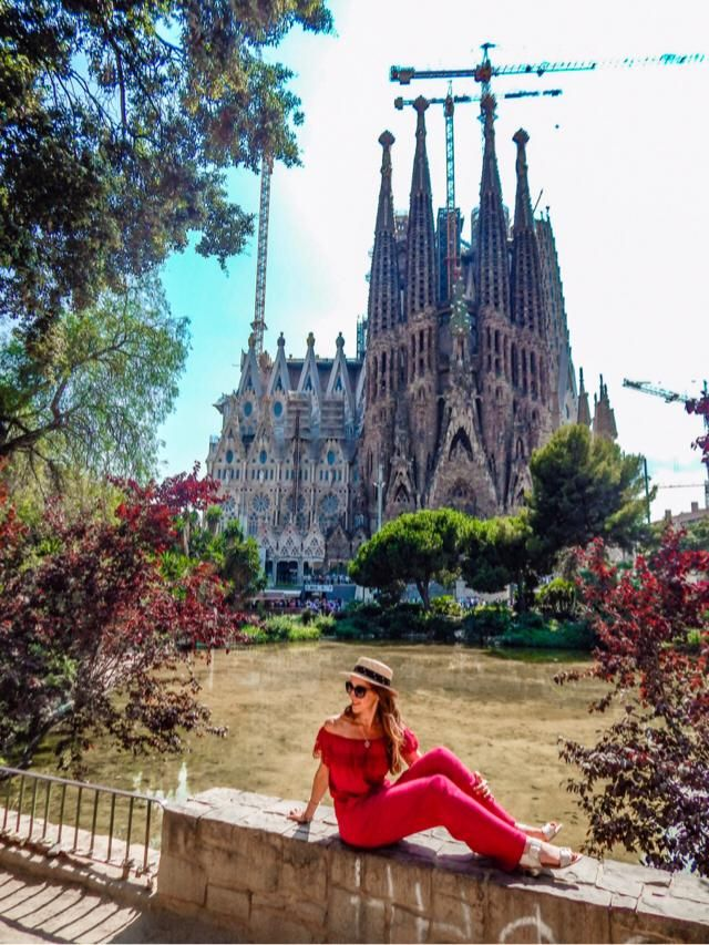 I love Barcelona!  When you visit La Sagrada Familia , Look for this spot in the park to get the best views of the B…