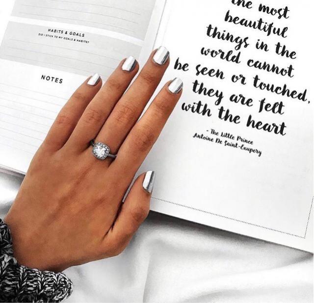 can't get enough of this silver nail polish