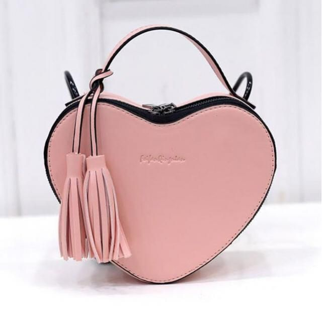 Can't go wrong with a heart-shaped bag.