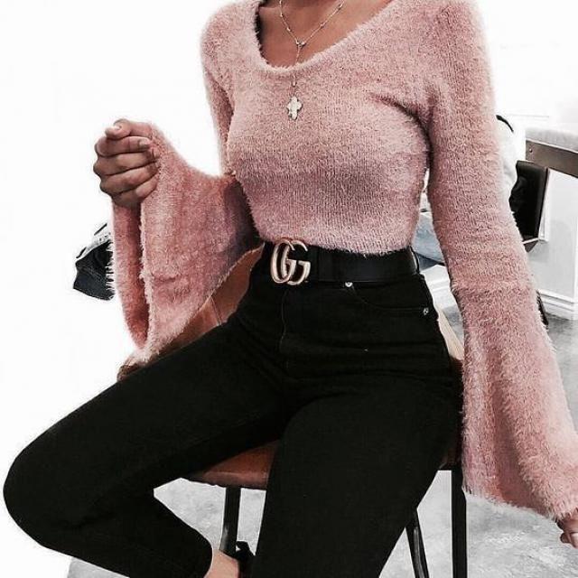 Flare Sleeve Sweater | | |