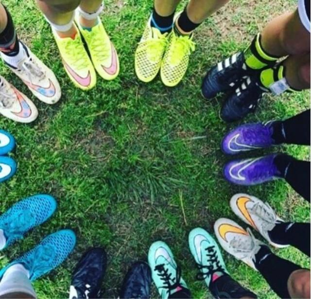 me and my friends at soccer practice!