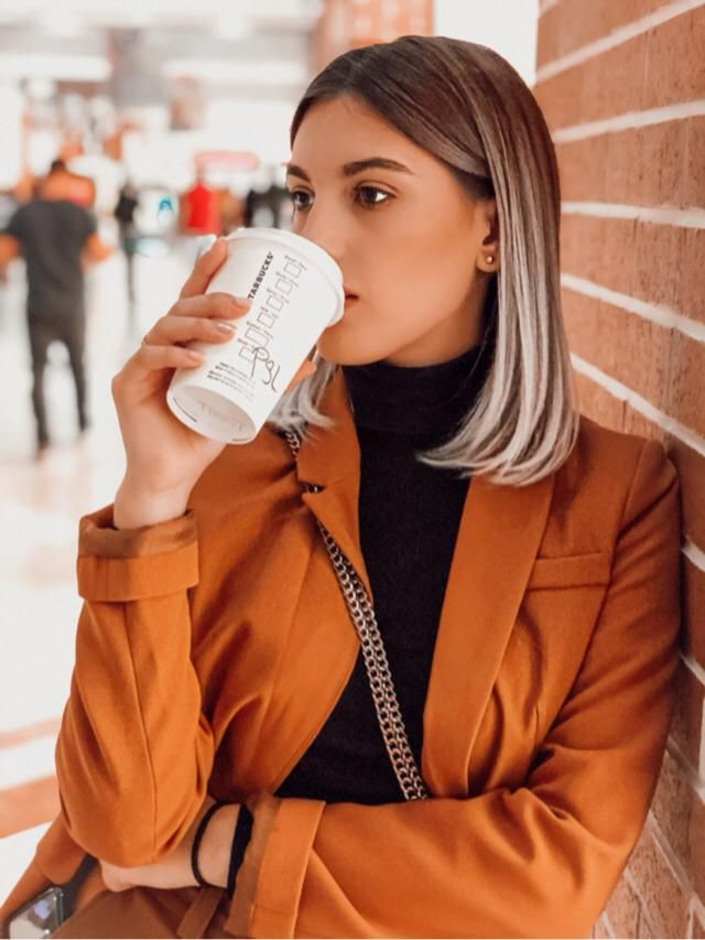 A hot latte and a warm blazer is all I need this fall!