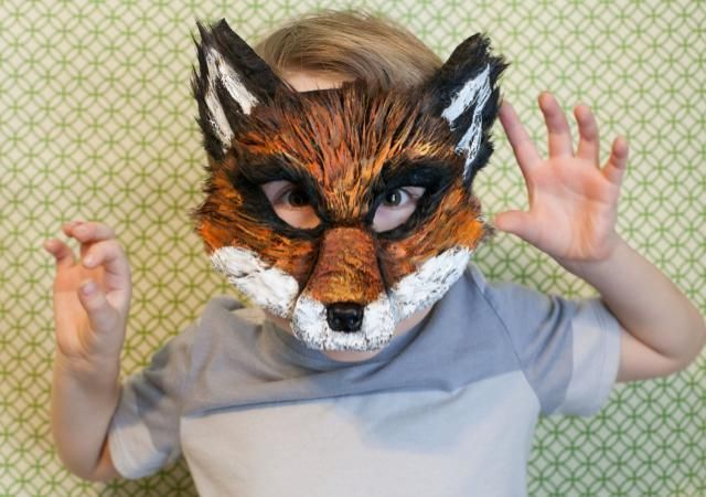 Fox Mask, Ash Fox, Fantastic Mr. Fox Child Mask, Nick Wilde Costume