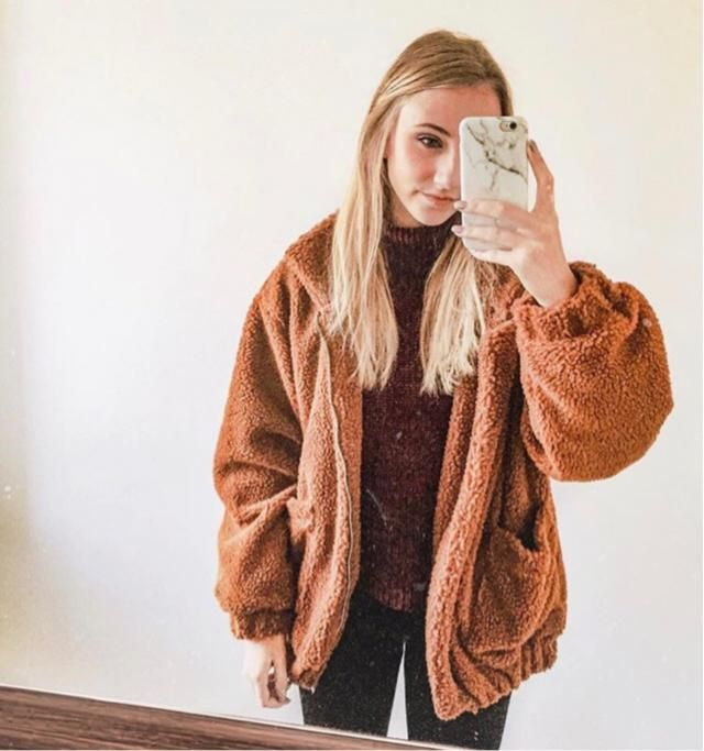 It's cozy weather, it's also perfect with this cozy jacket