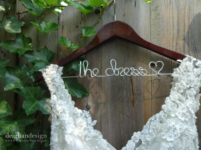 Wedding Dress Hanger Bride Last Name Mrs