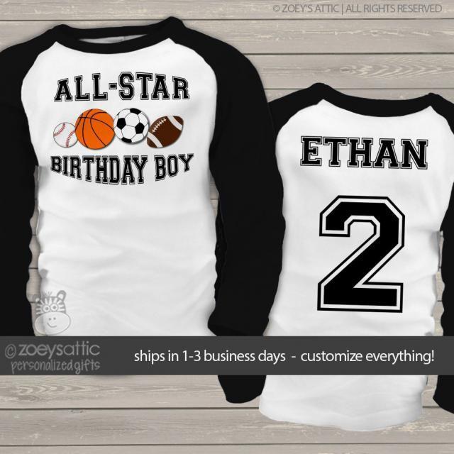 Sports Birthday Boy Shirt