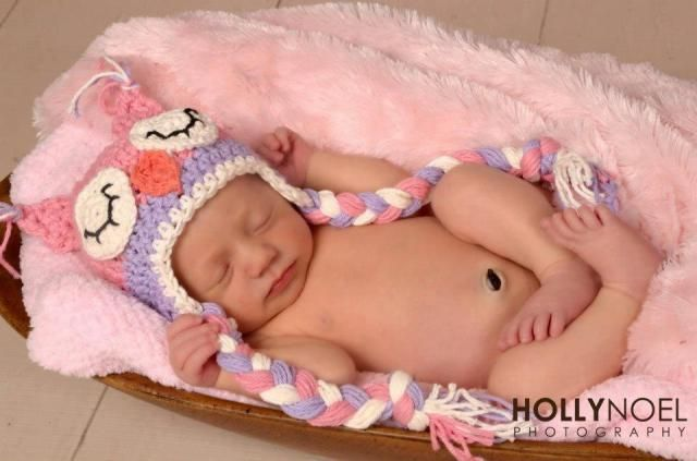 Pink and Purple Owl Hat Crochet Sleepy Owl hat Newborn to Toddler  Photography Prop 439cef1e09b7