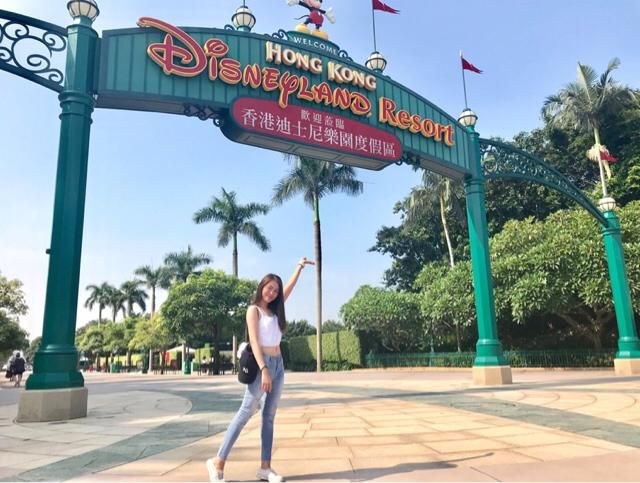 Having fun at Hongkong Disneyland ❤️
