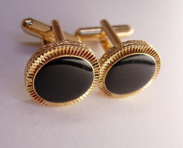 92eabe62f15a Vintage Black Tuxedo Cufflinks Bonus Deco Jewel Tie Clip Wedding groom gold  gift tuxedo accessory Business