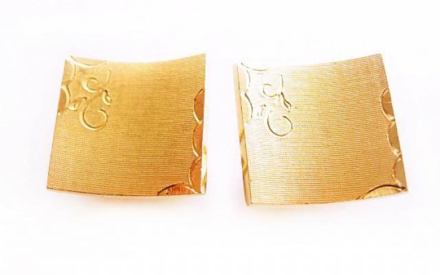 01079ab6b3dc Vintage classic Cufflinks Fancy Scrollwork Bonus Tie Tack Rhinestone Signed  Swank brushed gold tone wedding jewelry