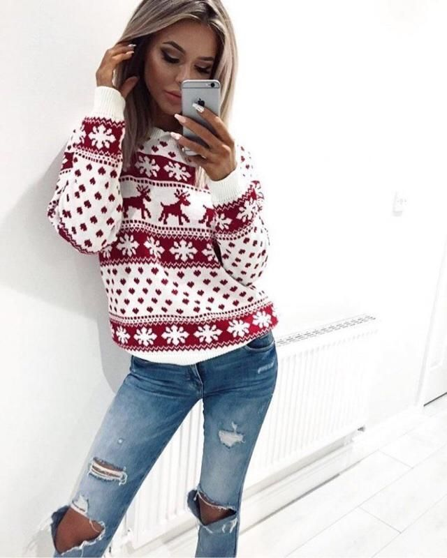 Christmas is already here, celebrate this beautiful season with this beautiful sweater! perfect for Christmas Day!❤️❤️❤…