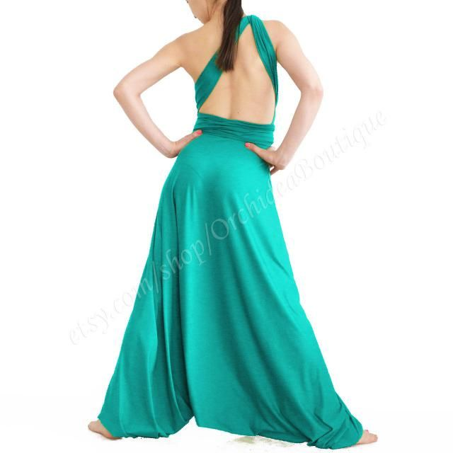 d0bdaf051f27 green summer Convertible wrap infinity jumpsuit harem yoga comfortable baggy  plus size maternity boho sarouel loose