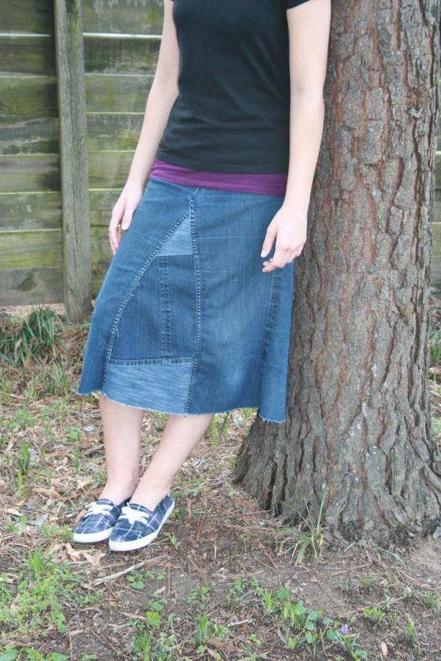 52be319d104f Knee Length Midi Denim Skirt Jean Skirt Available in Maternity Clothes and Plus  Size Clothing Made