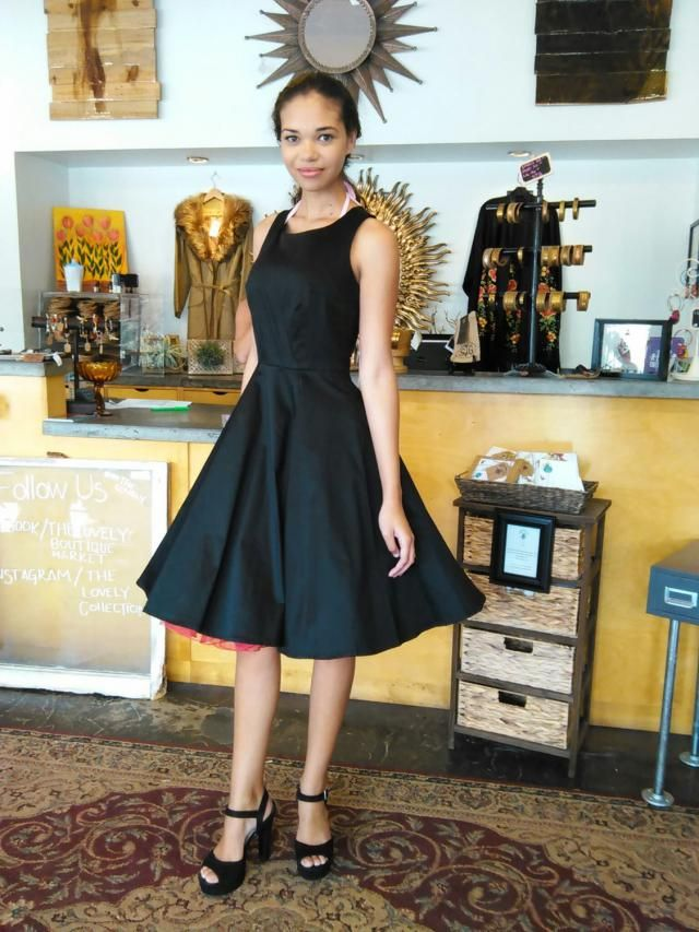 7feef3f118fa Audrey hepburn breakfast at tiffany&;s black dress vintage inspired  retro dress, womens