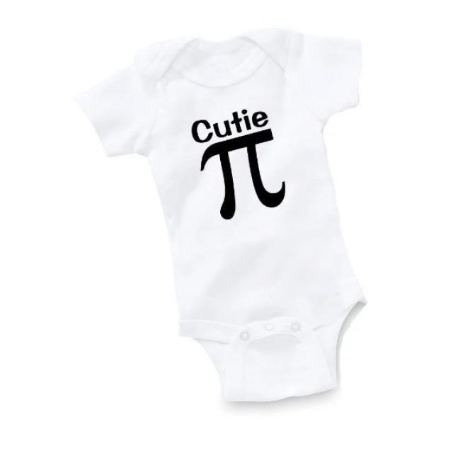 1f1584c6e Cutie Pi Bodysuit Baby Shower Gift Funny Geek Nerd Cute Pie Math Romper One  Piece