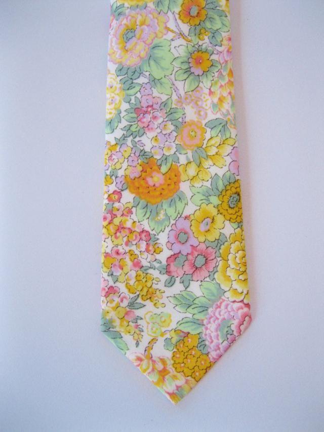 Orange Wedding Tie Liberty Of London Print Necktie Skinny