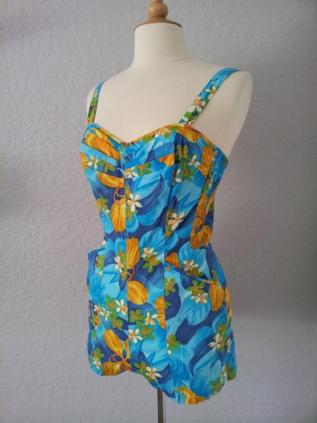 82789fcb54 Vintage 1950s Hawaiian Swim Suit by Miss Hawaii and Kamehameha    Play Suit