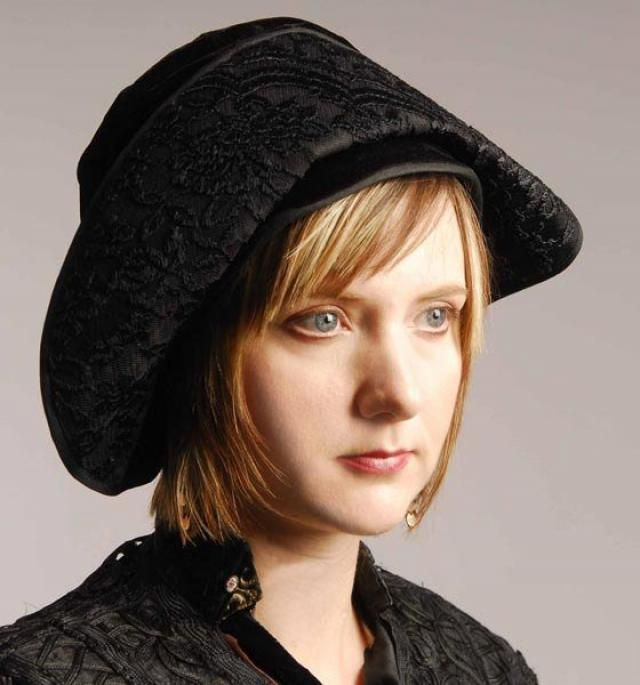 Original Teens Era 1914 1918 Black Velvet Fisherman Style Cloche Hat - Item   5321786a3b8