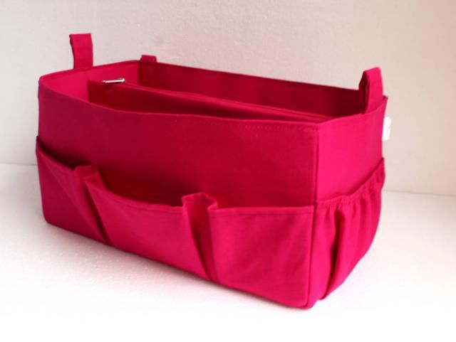 6b8e51ce8753 Extra large Purse organizer for Louis Vuitton Neverfull GM- Bag organizer  insert in Hot Pink