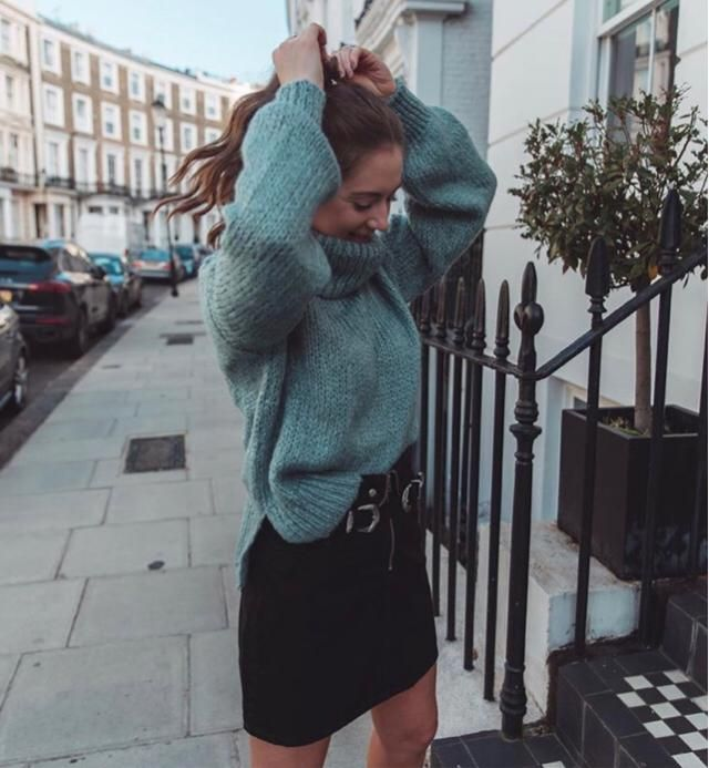 Inlove with thick warm sweater especially if the colour is green