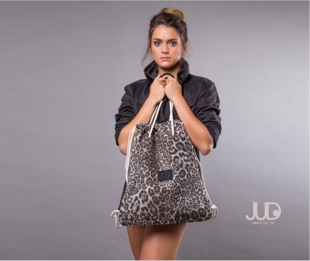 9fa7d332ba Gray backpack purse - multi sack bag SALE - leopard tote bag- women rucksack -