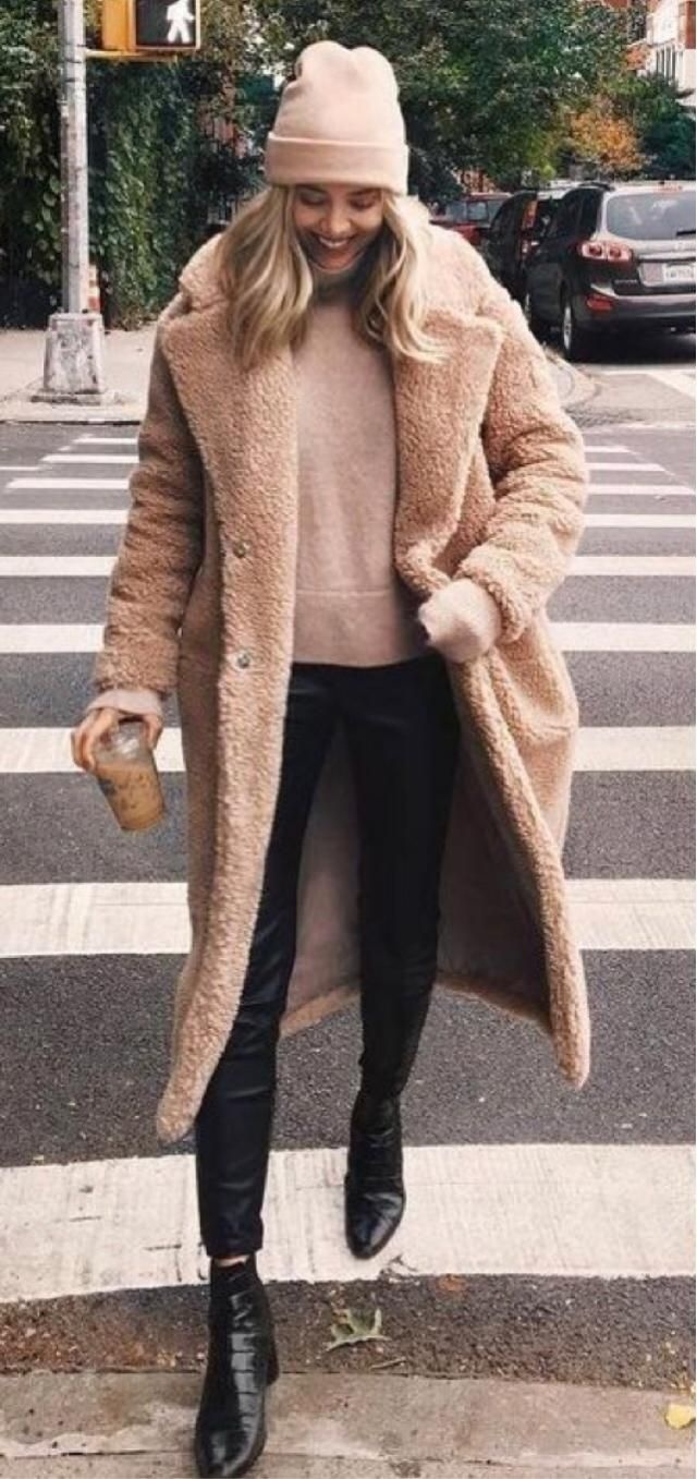 Gorgeous teddy coat outfit