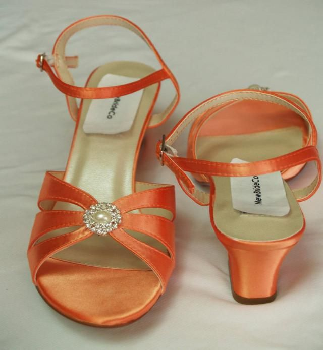 c3822c3bd0a Orange WEDDING Shoes B and W width comfortable heel 200 colors