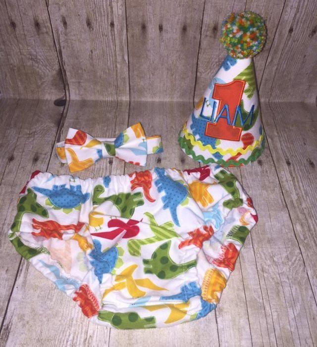 Dinosaur Cake Smash Outfit
