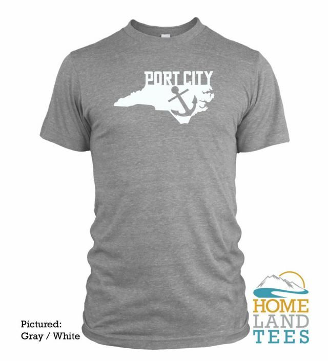 862e0d191 PORT CITY Wilmington North Carolina State T-Shirt Homeland Tees