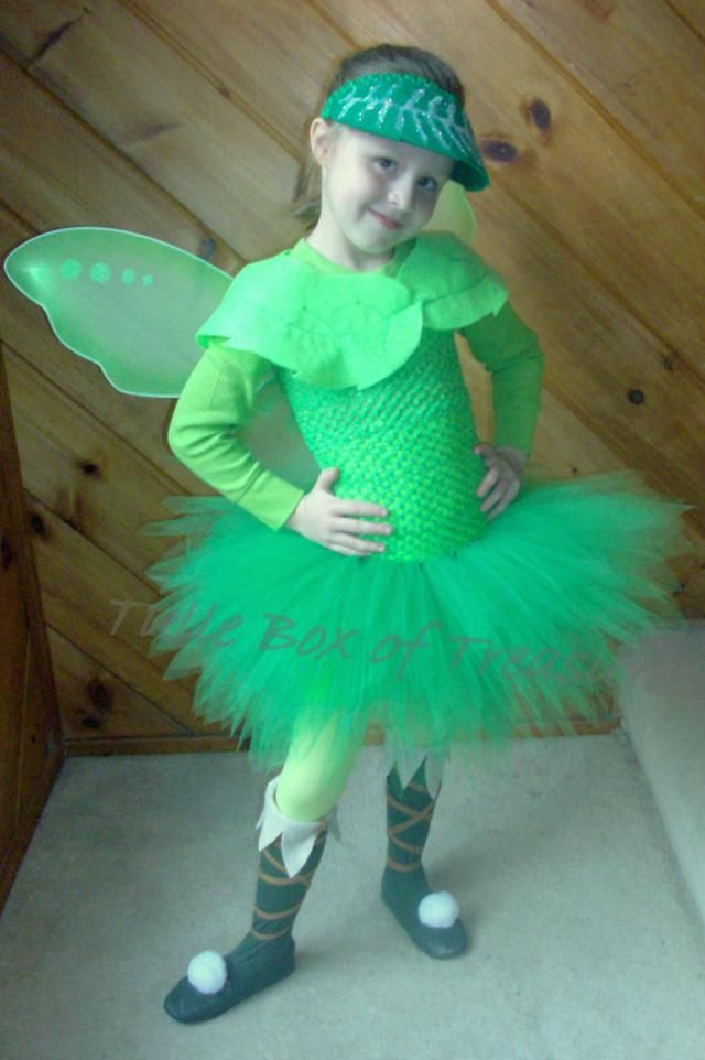 Green Bell Fairy Tutu Costume/Halloween/Tutu Skirt/Birthday Party/Tinker/